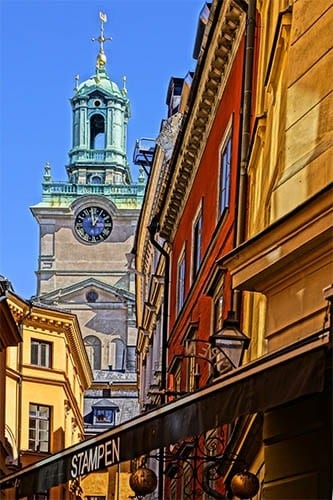 Stockholm's colorful Gamla Stan (Old Town).