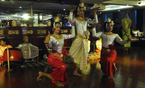 Cambodian dancers entertain.