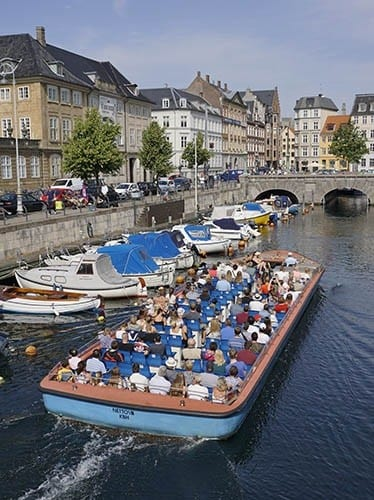 A canal cruise is a pleasant way to see Copenhagen.