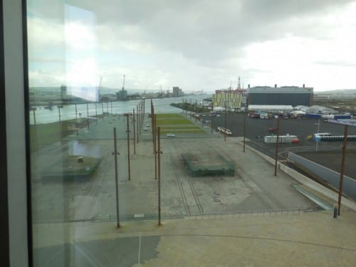 Remnants of the dry docks where Titantic was built