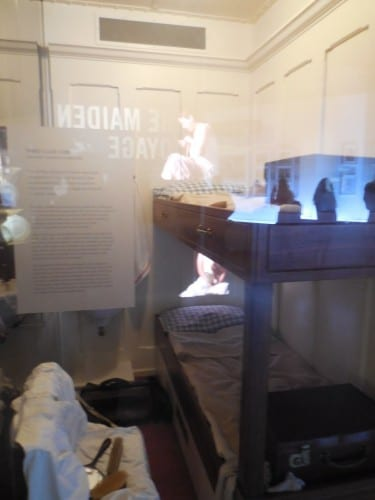 Re-creation of a third class cabin on Titantic