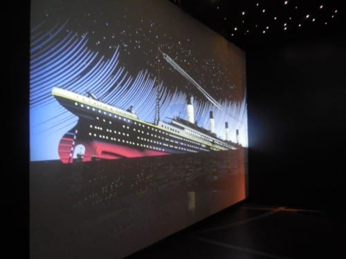 Artwork at the Titantic Experience in Belfast
