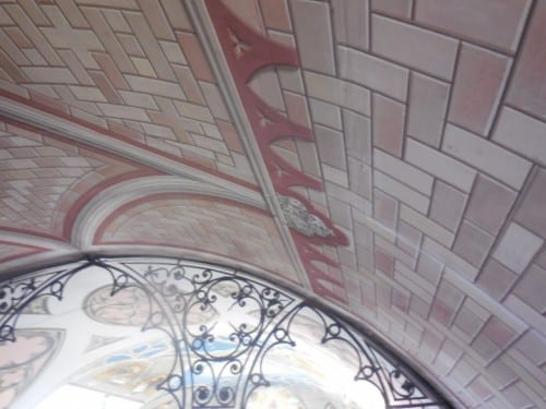 Trompe d oile artwork on the interior walls