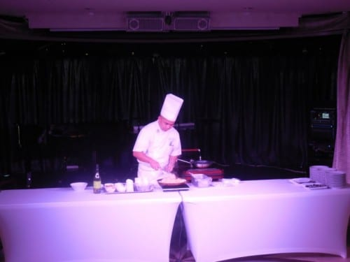 The chef's cooking class at sea on Windstar Star Legend