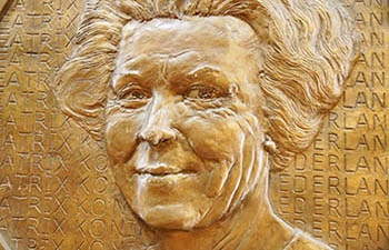 Portrait of Queen Beatrix of the Netherlands.
