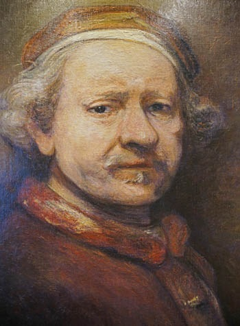 Self-portrait of Rembrandt on the Eurodam.