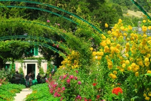 One of the many gardens surrounding Claude Monet's Giverny home