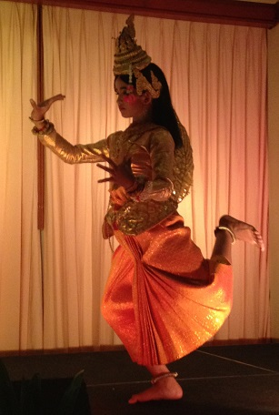 Cambodian dancer performs the Golden Mermaid Dance.