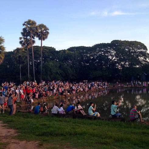 You are never alone at Angkor Wat, even before 6 a.m.