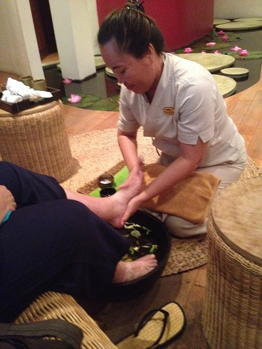 Aah, spa and best foot massage ever.