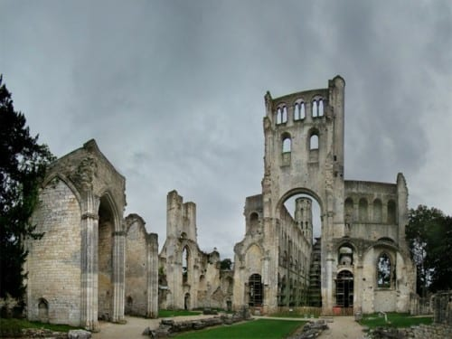 The Abbey at Jumieges  — photo courtesy Jumieges Abbey