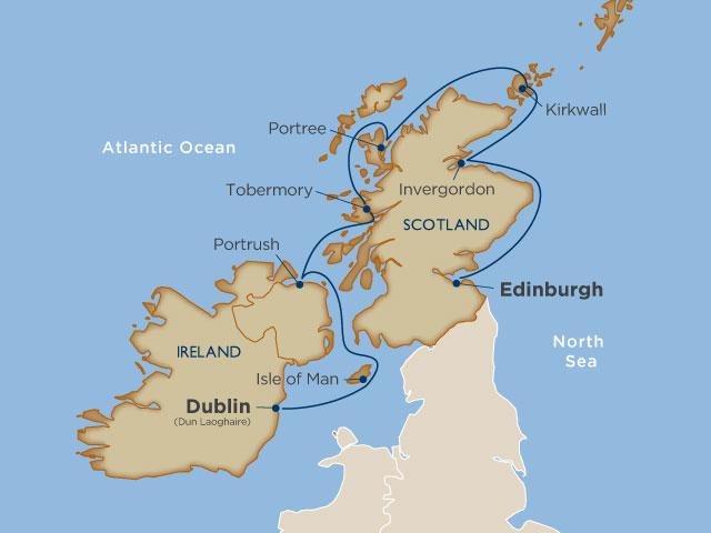 Map Of Ireland And Scotland.Cruising Ireland And Scotland On A Windstar Yacht