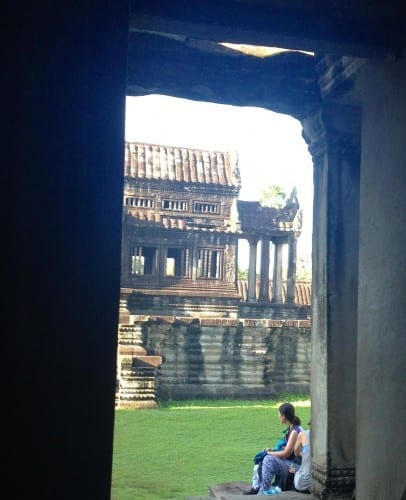 Angkor Wat puts visitors in completive frames of mind.