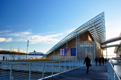 The Astrup Fearnley Museum of Modern Art was designed by Italian architect Renzo Piano and is known for its edgy exhibits.