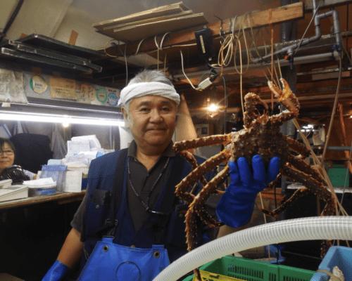 Japanese king crab at Tokyo Fish Market