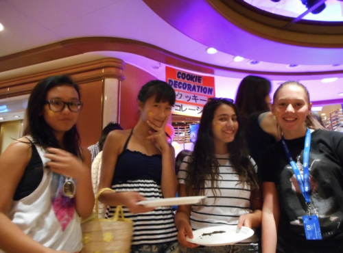 Four teens who became fast friends on the Diamond Princess