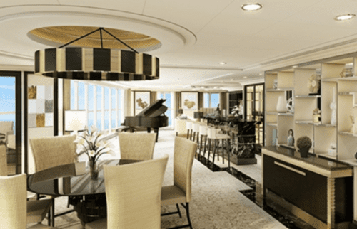Regent Suite on the Seven Seas Explorer, at $10,000 a day for two people