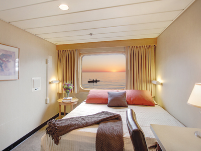 A Captain's Class cabin on the Safari Endeavor