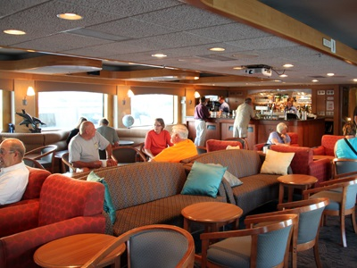 The Endeavor lounge has an extensive bar stocked with premium liquors and wines, all included in our trip fee.