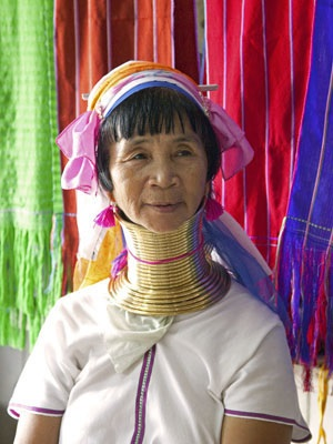 A long-necked beauty of the Padaung tribe, Inle Lake