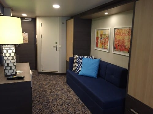 One end of our stateroom which was extremely well appointed