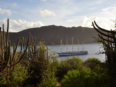 Royal Clipper in Admiralty Bay Bequia