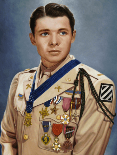 Audie Murphy became the most decorated U.S. soldier in World War II.