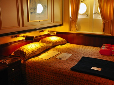 Lower deck cabin on the Royal Clipper