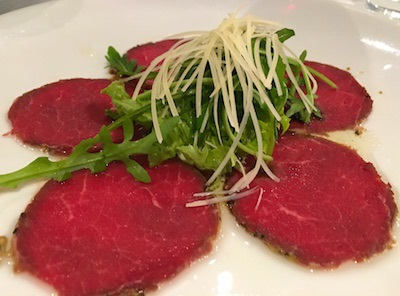 Beef Carpaccio was one of my choices.