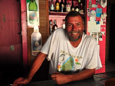 Mark, bartender on the beach, Union Island