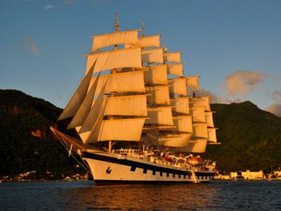 Royal Clipper at full sail in