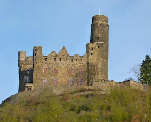 Many of the castles on the Rhine were destroyed by past conquerors.