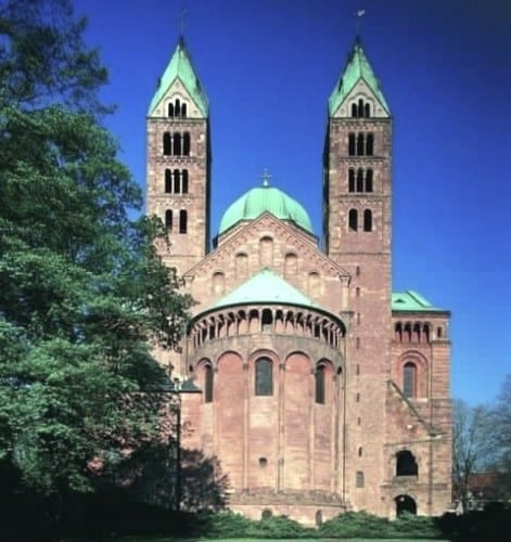 The Speyer Cathedral in Speyer, Germany, will offer a special Christmas Eve program. (Photo courtesy of Amras Cruises)
