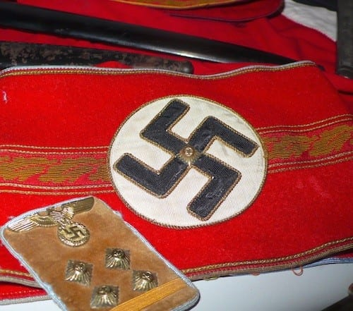 Items from the Nazi regime are displayed at the Colmar Pocket Museum in Turckheim, France.