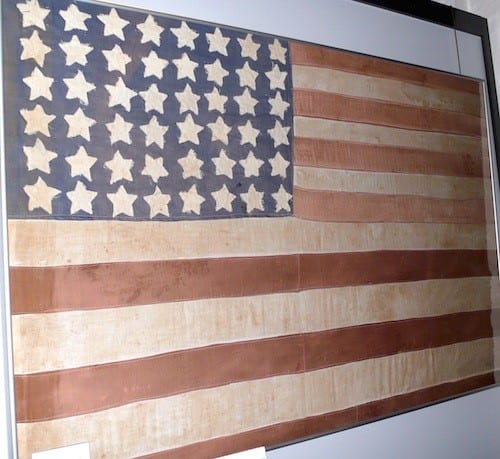 A Turckheim woman made this flag to defiantly fly in the face of Hitler and his Third Reich.