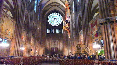 On Christmas Day, we enjoyed Strasbourg Cathedral in France.