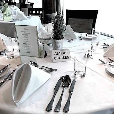 A special table has been reserved for Amras Cruises passengers.
