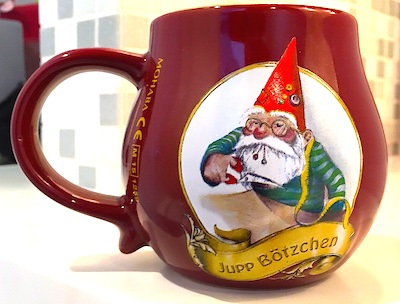 This collectible mug came from Cologne.