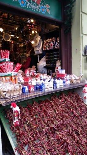 Paprika and souvenir shop