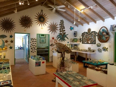 Aragorn's Studio at Trellis Bay Beach features a wide array of high-end craft items