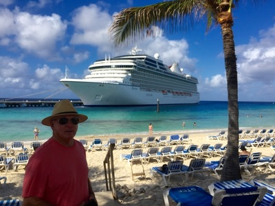 Oceania Riviera docked at the Grand Turk Cruise Center