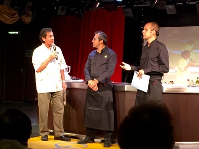 Raw food culinary demo during the day at sea was very entertaining