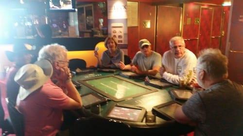 Gamblers hard at work