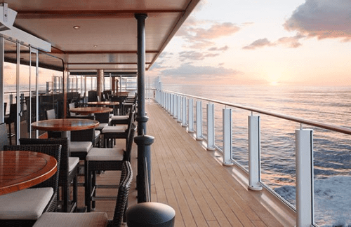 Waterfront dining on Norwegian Escape