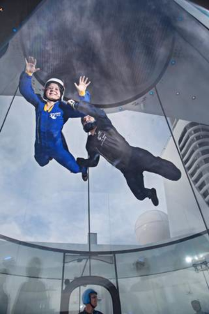 Anthem of the Seas has a simulated sky diving program, RipCord by IFLY. Dan Welldon Photography Royal Caribbean