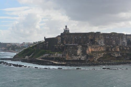 Sailing into San Juan, past El Morro (Chris Giovanetti)