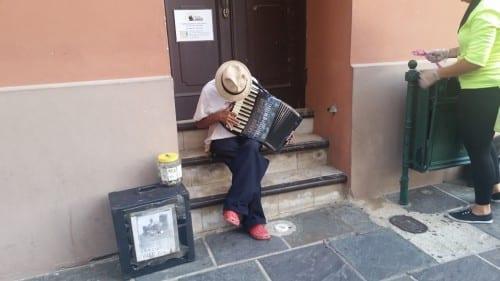 San Juan street musician