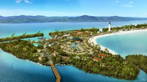 Harvest Caye (Rendering courtesy of Norwegian Cruise Line)