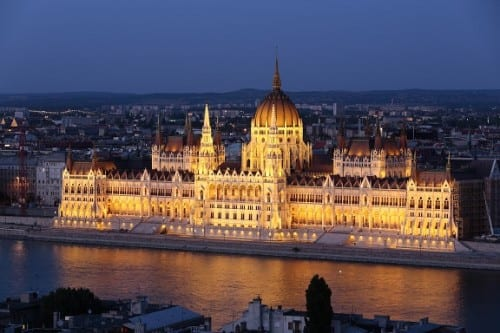 Budapest Parliament building as seen from the Danube