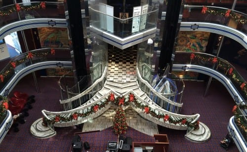 Christmas decorations were put up during the cruise